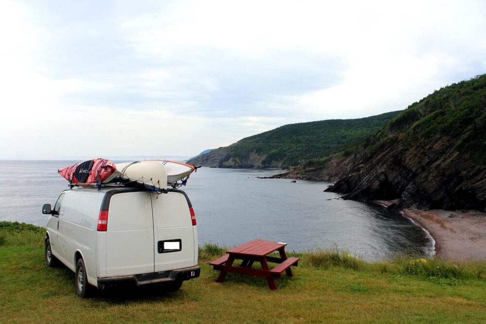 Meat Cove campground, Cape Breton Island, Nova Scotia