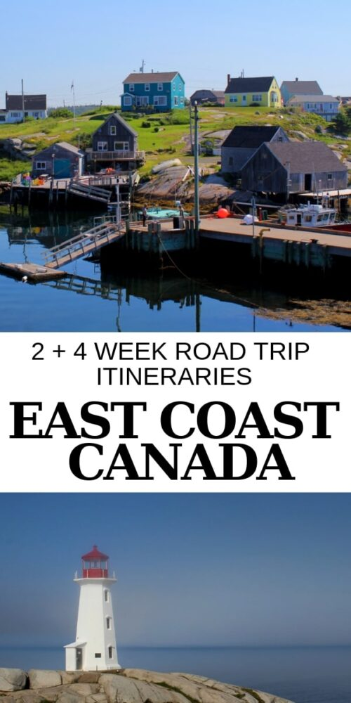 An East Coast Canada road trip is all about fresh lobster, colourful fishing villages, weathered lighthouses, long swathes of sandy beach and majestic ocean panoramas. These road trip itineraries will help plan your own East Coast adventure! offtracktravel.ca