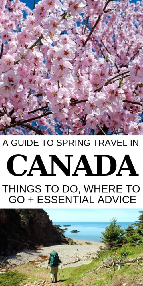 Visiting Canada in spring offers a rewarding, quieter and more affordable travel experience. Click here to discover spring travel highlights, top destinations + advice for travelling Canada during this beautiful season! offtracktravel.ca