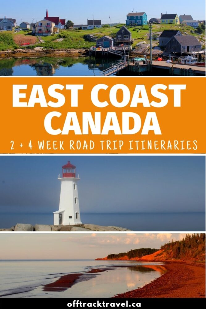 A trip to Canada's East Coast is all about salty sea breezes, fresh lobster, colourful fishing villages, sweeping swathes of sandy beach, weathered lighthouses and majestic ocean panoramas. Connecting them all are winding coastal roads, sometimes only a crash barrier away from the water itself. Click here to discover two East Coast Canada road trip itineraries to help you plan your adventures! offtracktravel.ca