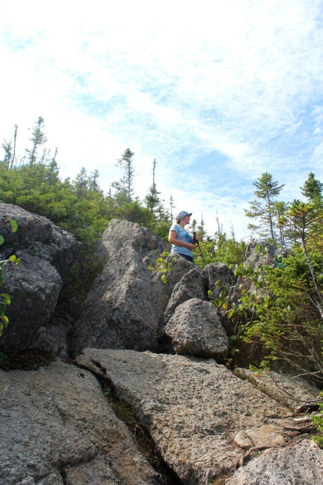 Boulder slabs near Mount Sagamook summit, Mount Carleton Provincial Park