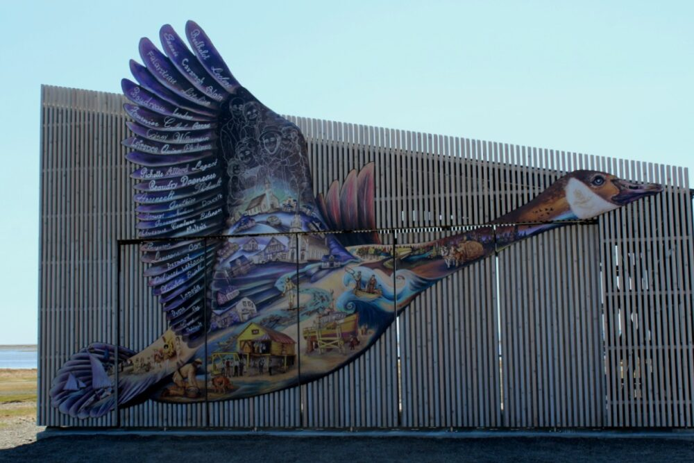 Canada Goose mural in Carleton-sur-mer, Quebec