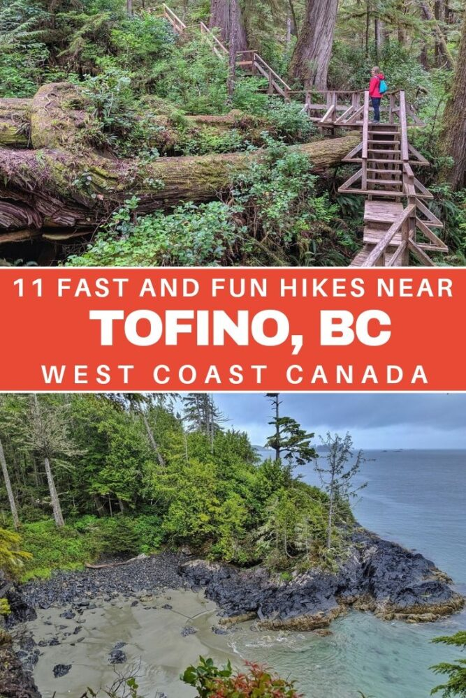 Short on time but want to experience the magic of Vancouver Island's West Coast? Discover 11 fast and fun Tofino hikes which showcase the ancient rainforests, golden sand beaches and incredible panoramic views of this beautiful area. offtracktravel.ca