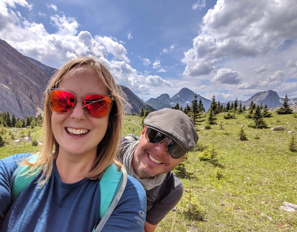 Selfie of Gemma and JR in the Kananaskis Valley