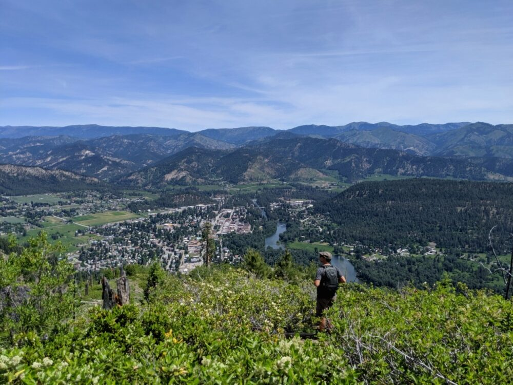 The view of Leavenworth from the Icicle Ridge trail