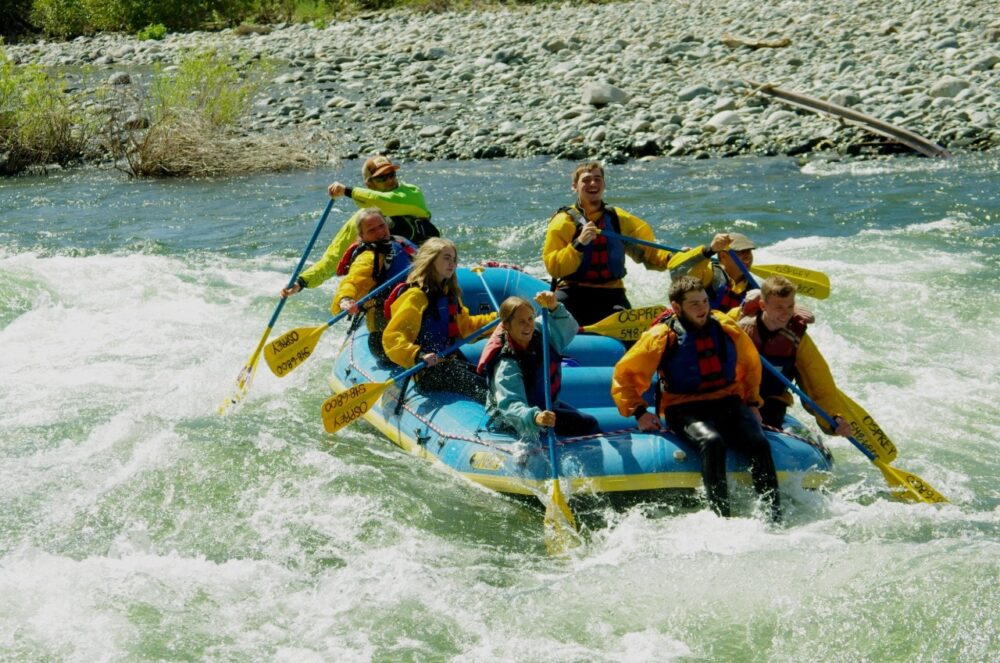 Rafting the Wenatchee River near Leavenworth with Osprey Rafting