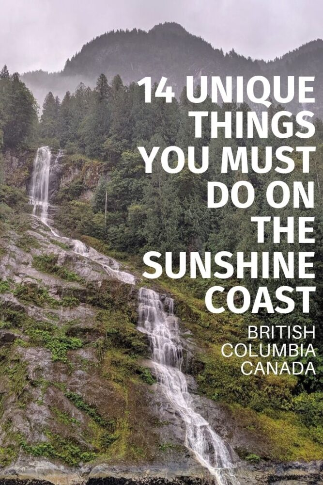 With breathtaking views of Vancouver Island and the Salish Sea, the Sunshine Coast is lined by vibrant coastal communities and backdropped by mossy temperate rainforest and the coastal mountain range. It's an amazing place to explore. Click here to discover 14 things you must do on the Sunshine Coast, BC. offtracktravel.ca