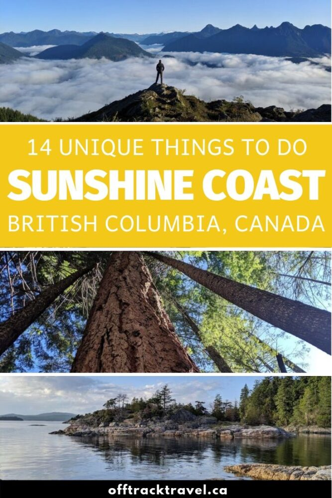 With breathtaking views of Vancouver Island and the Salish Sea, this shoreline is lined by vibrant coastal communities and backdropped by mossy temperate rainforest and the coastal mountain range. Despite this, it's hugely underrated. Click here to discover 14 unique things to do on the Sunshine Coast, BC! offtracktravel.ca