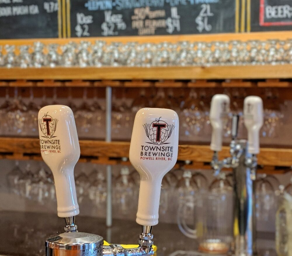 Townsite Brewing taps at bar