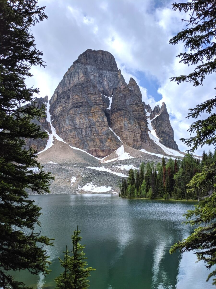 Distinctive peak above Cerulean Lake, Mount Assiniboine Provincial Park