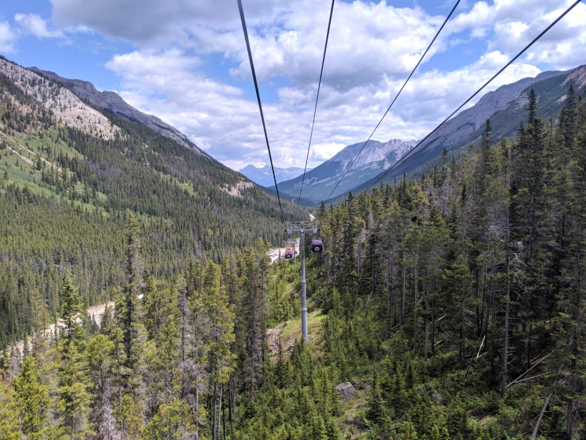 Valley view from Banff Sunshine Village gondola
