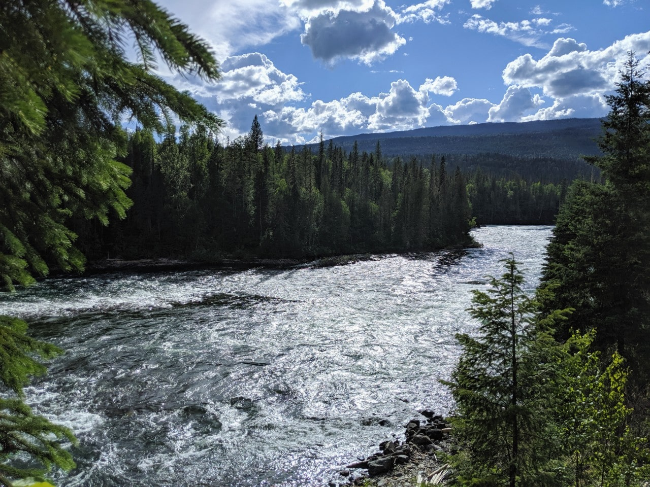 Fast moving river in Wells Gray Provincial Park