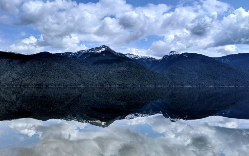Paddling Murtle Lake in Wells Gray Provincial Park, British Columbia