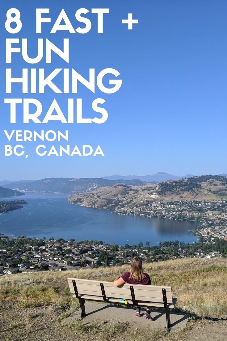 Situated near the top of the Okanagan Valley in British Columbia, Canada, Vernon is best known for its three spectacular lakes, dry, rugged landscape and consistently warm summer weather. These easy and short hiking trails offer a great way to explore this beautiful region! offtracktravel.ca