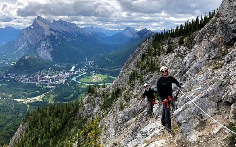 Climbing Mt Norquay's Via Ferrata, Banff, Alberta