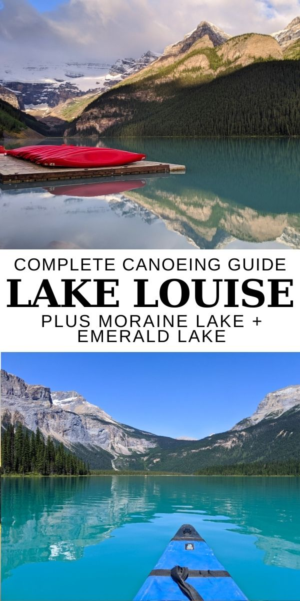 Click here to discover all the details you need to know to go canoeing on Lake Louise, Moraine Lake and Emerald Lake in the Canadian Rockies! I also share which is my absolute favourite lake to paddle and how you can potentially even canoe all three on one day!