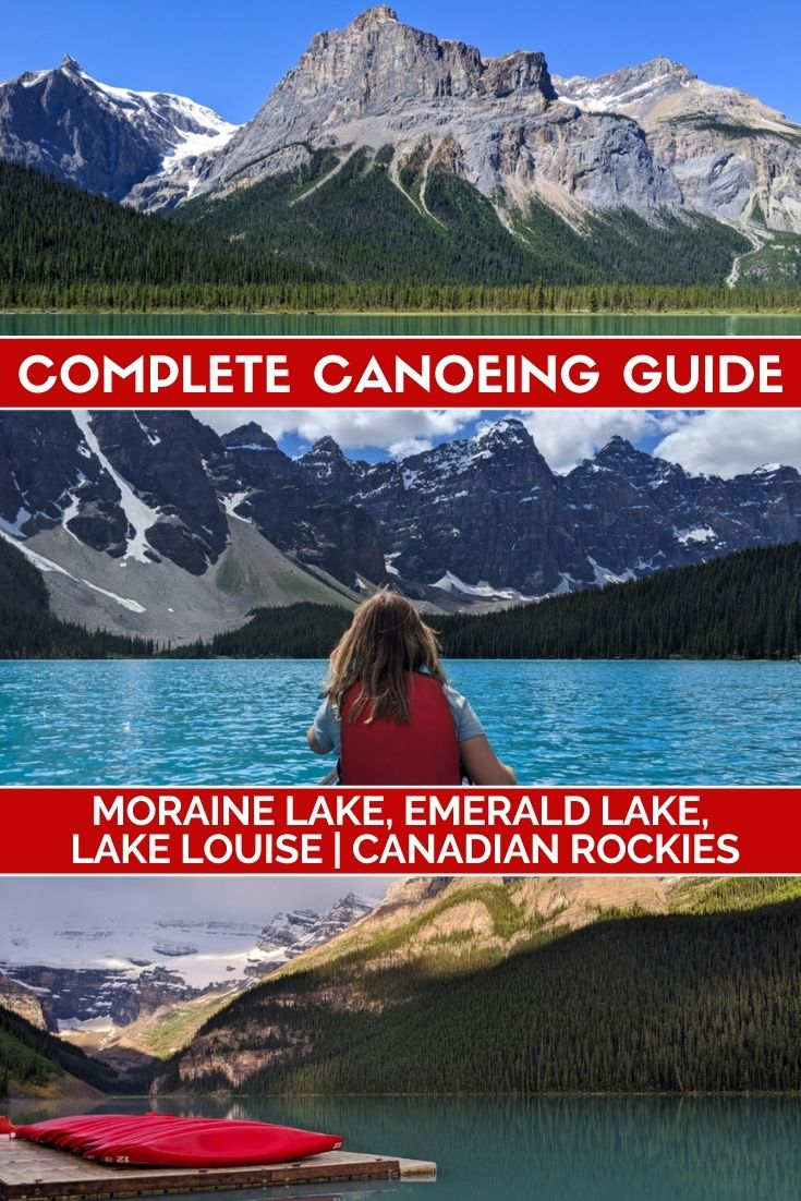 Moraine Lake, Emerald Lake and Lake Louise are some of the most beautiful places in the Canadia Rockies. Canoeing is an awesome way to explore them. Click here to find out everything you need to know!