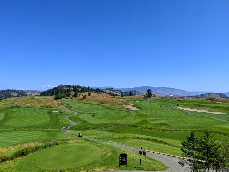 Lush golf course at Predator Ridge in Vernon