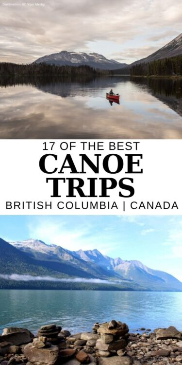 Explore the BC's dramatic mountains and misty forests from a different perspective - the classic Canadian canoe. There's a large variety of incredible multi-day canoe trips in British Columbia, ranging from relaxing paddles on pristine glacier fed lakes to adventurous circuit expeditions with portages and river sections. Click here to discover 17 of the best canoe trips in BC - they need to go on your bucket list ASAP! offtracktravel.ca