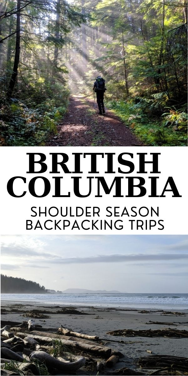 By the end of winter, I can't wait to get back onto the hiking trails again. British Columbia's mountainous terrain, however, means that many popular backpacking routes are under snow until at least June. But not all of them! Click here to discover 13 of the best shoulder season backpacking trips in BC, Canada! offtracktravel.ca
